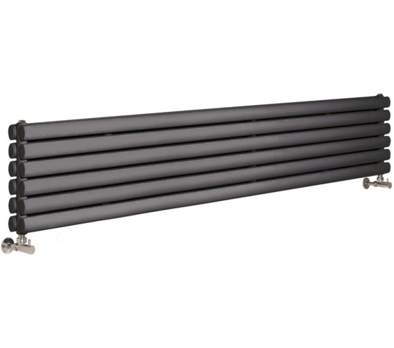 Lauren Ricochet Double Panel 1800 x 354mm Anthracite Horizontal Radiator