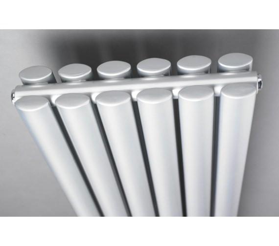 Additional image of Lauren Ricochet Double Panel 1800 x 354mm Silver Horizontal Radiator