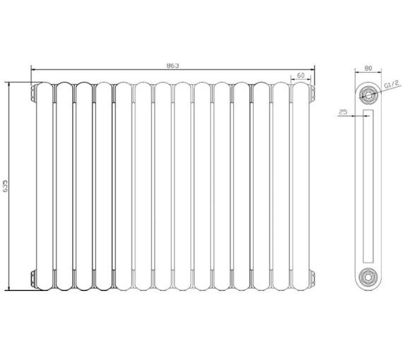 Technical drawing QS-V78615 / HSA004