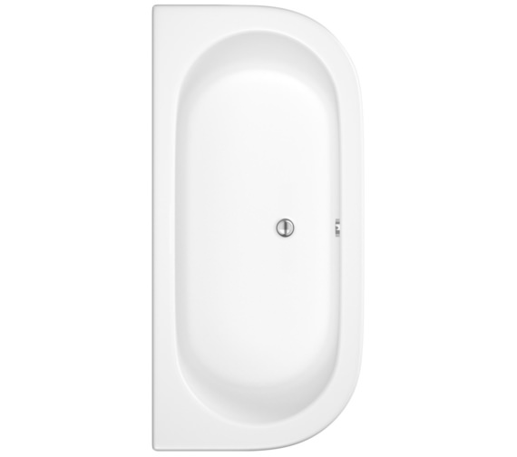 Beo D Shape 700 x 800mm Double Ended Back To Wall Bath With Panel