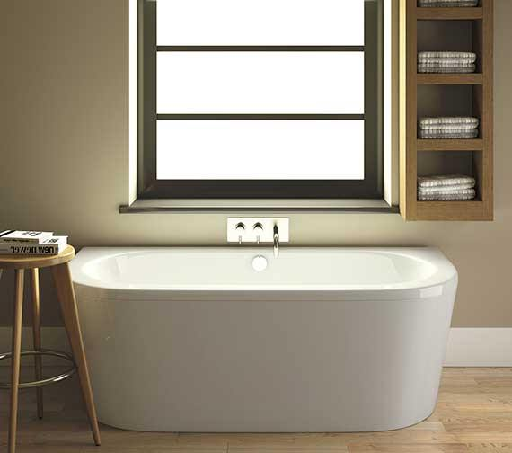 Premier Shingle 1700 x 800mm Eternalite Double Ended BTW Bath With Panel