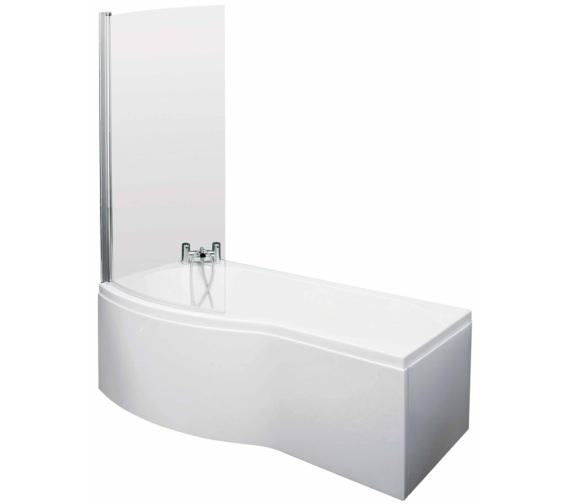 Lauren Curved B-Shaped 1700 x 900mm Left Hand Acrylic Shower Bath Pack