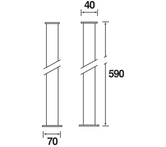Technical drawing QS-V61667 / LEG C