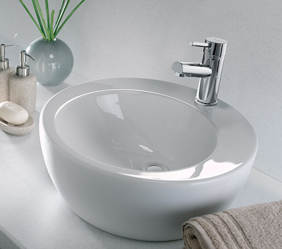 Additional image of Twyford Visit 1 Tap Hole Lay On Round Basin 450 x 450mm -GT4711WH