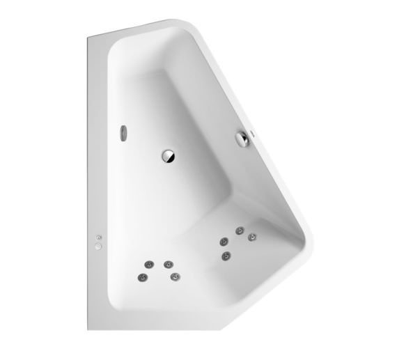 Duravit Paiova 5 Corner Built In Bath With Two Backrest Slopes