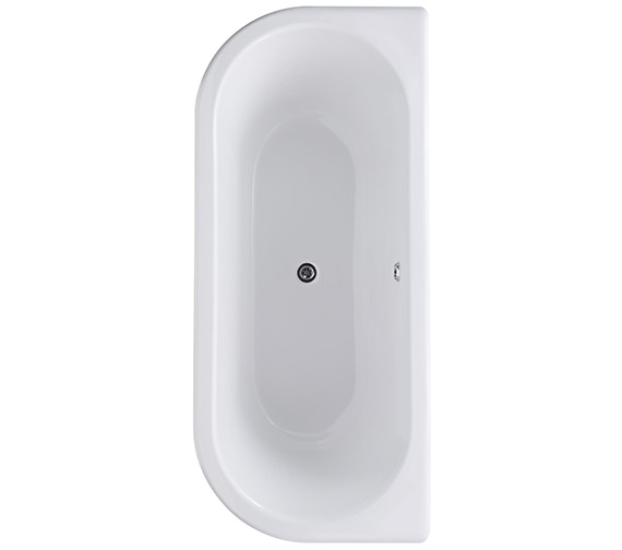 Additional image of Premier 1700 x 745mm Back-To-Wall Freestanding Acrylic Bath