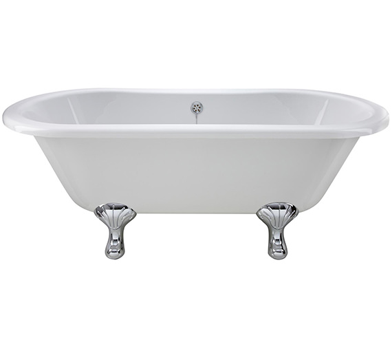 Beo Echo 1700 x 745mm Freestanding Acrylic Bath With Corbel Legs