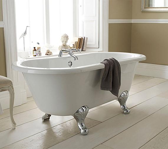 Hudson Reed Echo 1500 x 745mm Freestanding Acrylic Bath With Corbel Legs