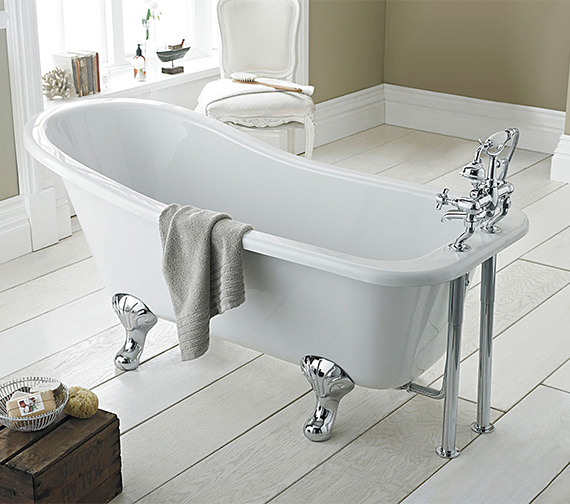 Hudson Reed Brockley Single Ended Freestanding Acrylic Bath
