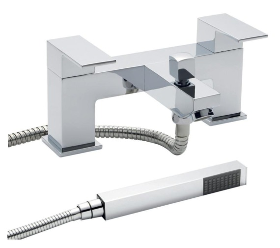 Beo Prospect Deck Mounted Bath Shower Mixer Tap With Kit