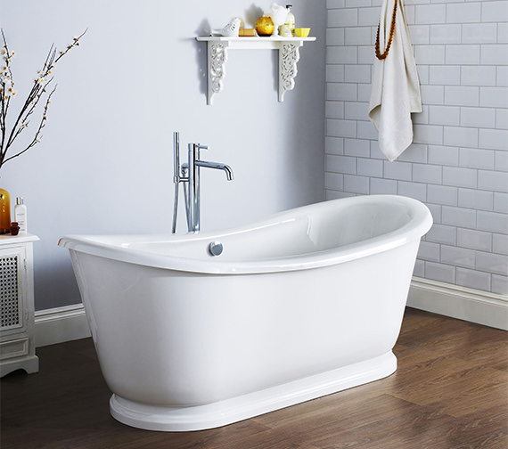 Additional image of Lauren Alice 1740 x 800mm Freestanding Acrylic Slipper Bath
