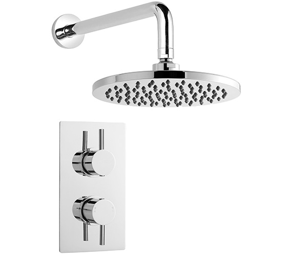 Nuie Premier Bundle - 3 - Twin Thermostatic Valve And Round Fixed Head