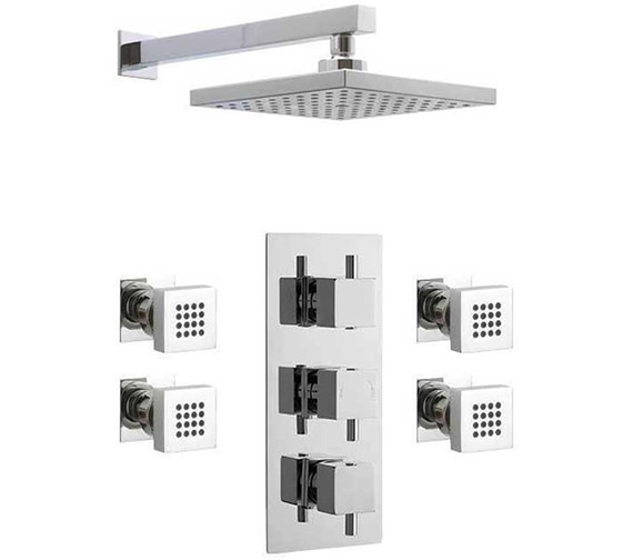 Premier Bundle - 2 - Triple Valve With Square Fixed Head And Body Jets