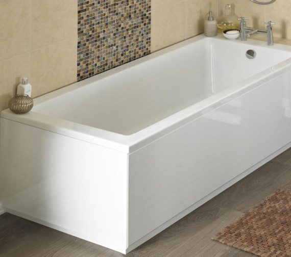 Nuie White Gloss Solid Bath End Panel