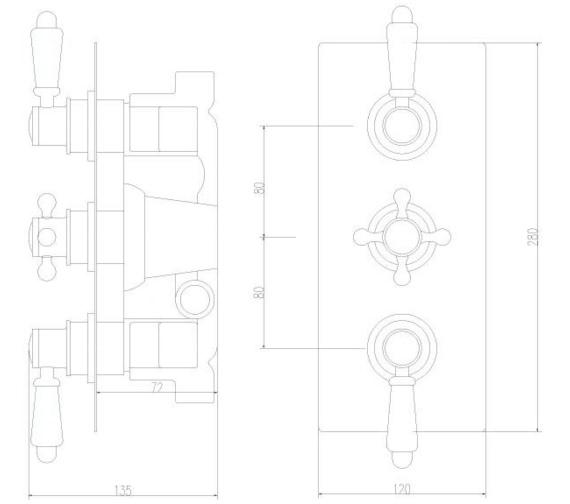 Technical drawing QS-V45045 / ITY315