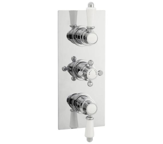 Lauren Victorian Rectangular Thermostatic Triple Concealed Shower Valve