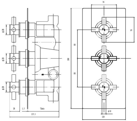 Technical drawing QS-V43052 / KRI3211
