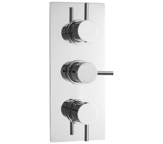 Lauren Quest Round Thermostatic Triple Concealed Shower Valve