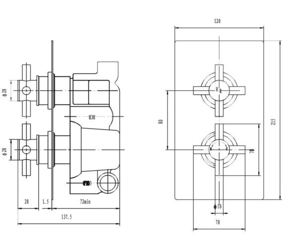 Technical drawing QS-V43051 / KRI3210