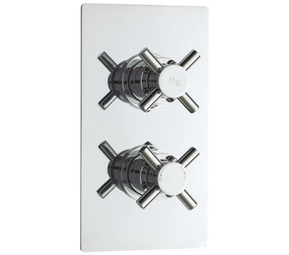 Lauren Tec Crosshead Thermostatic Twin Concealed Shower Valve