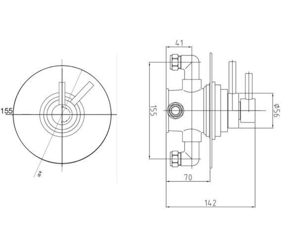 Technical drawing QS-V43032 / JTY025