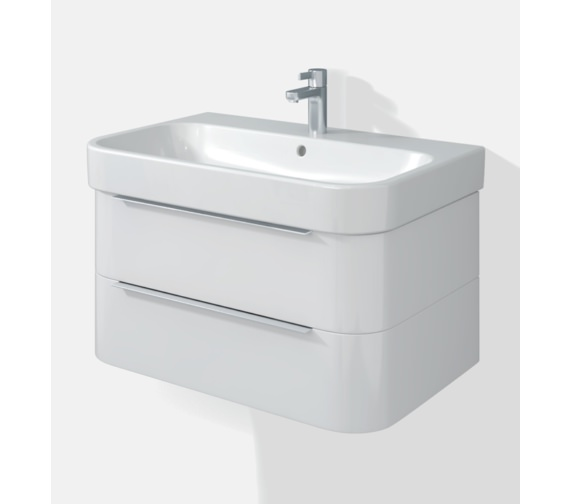 Duravit Happy D2 Two Drawers 575mm Unit With Basin