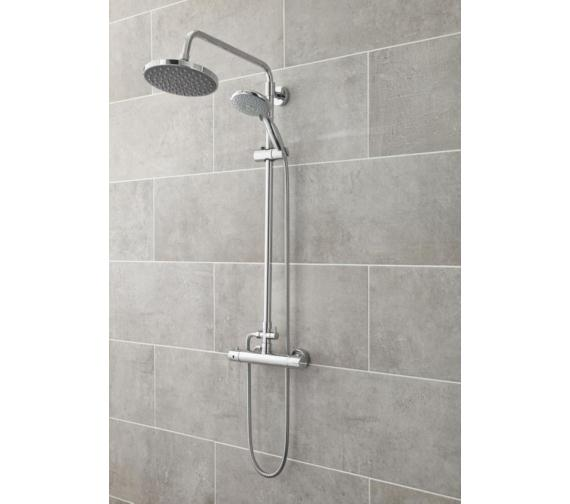 Premier Thermostatic Bar Shower with Telescopic Kit