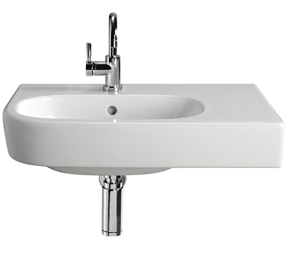 Twyford Quinta 800mm 1TH Washbasin With Right Hand Shelf Space - EX-DISPLAY