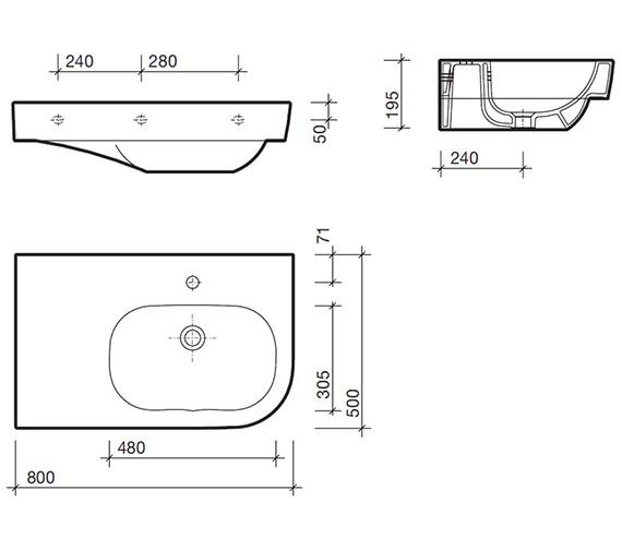 Technical drawing QS-V84312 / QT4041WH