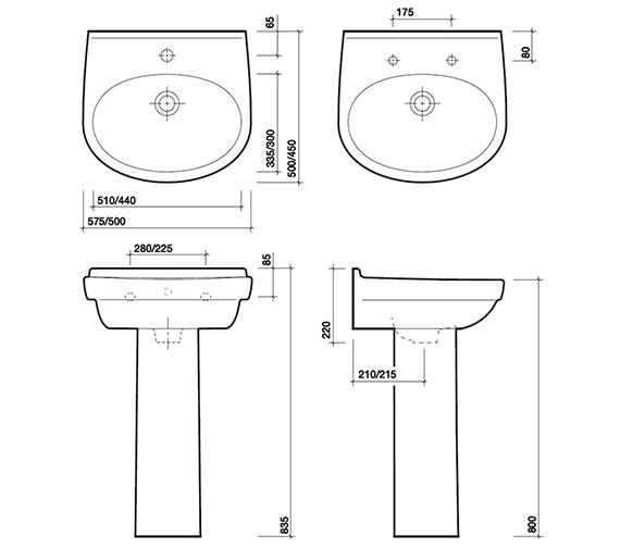 Technical drawing QS-V84311 / GC4212WH