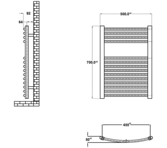 Technical drawing QS-V19421 / HK385