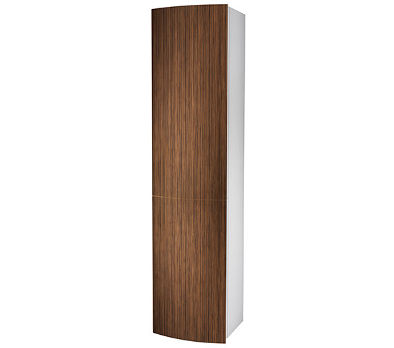 Twyford Moda 382 x 370 x 1600mm Teak Tall Furniture Unit - EX-DISPLAY