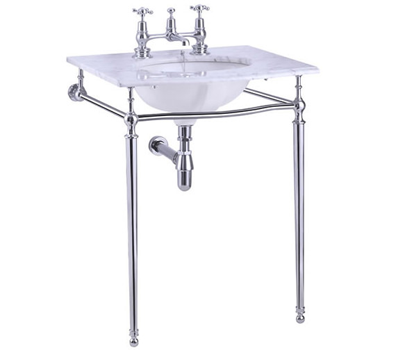 Burlington Georgian Carrara Marble Slab With Basin And Chrome Wash Stand