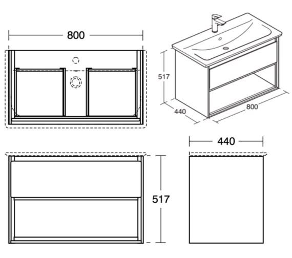 Technical drawing QS-V8425 / E0827PS