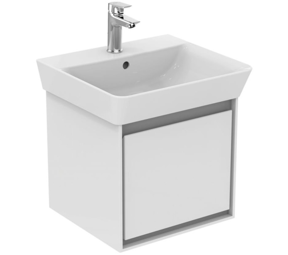 Ideal Standard Concept Air Wall Hung Gloss White Drawer Unit For 500mm Cube Basin