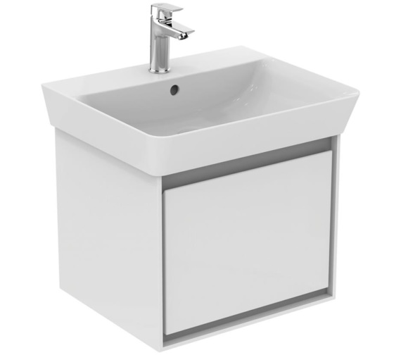 Ideal Standard Concept Air Wall Hung Gloss White Drawer Unit For 550mm Cube Basin