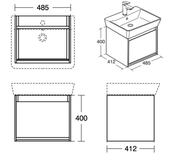 Technical drawing QS-V8427 / E0844KN