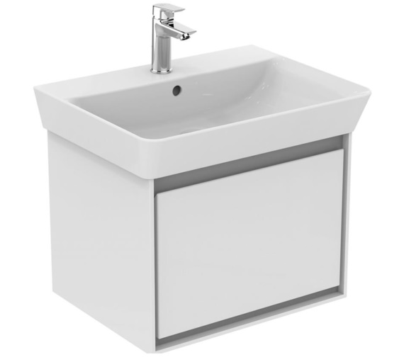 Ideal Standard Concept Air Wall Hung Gloss White Drawer Unit For 600mm Cube Basin