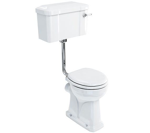 Burlington Regal Low Level WC Pan With Lever Cistern And Flush Pipe Kit