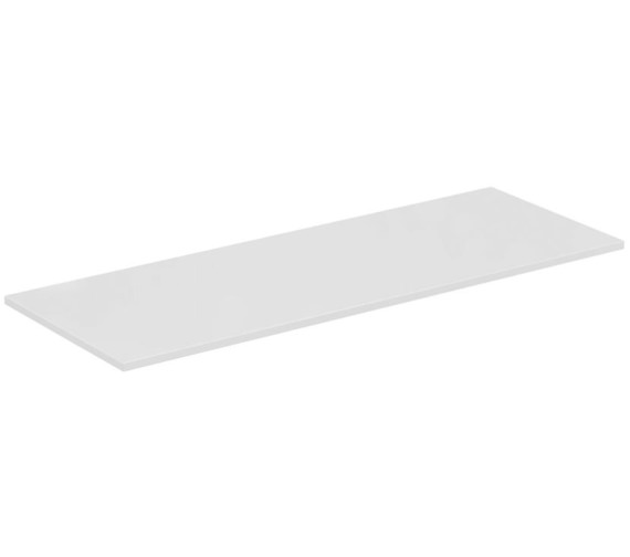 Ideal Standard Concept Air 1204 x 442mm Gloss White Worktop For Vessel Basin