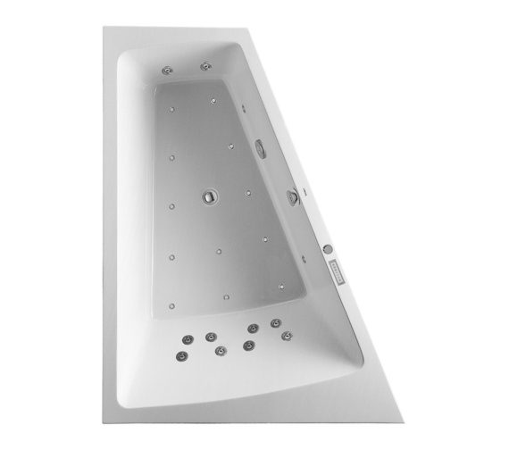 Duravit Paiova 1800 x 1400mm Left Slope Bath With Frame - Combi System L