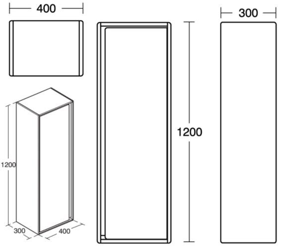 Technical drawing QS-V8430 / E0834UK