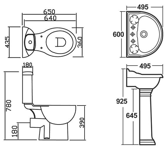 Technical drawing QS-V8992 / NBA409