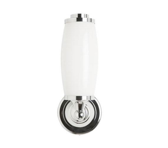 Burlington Round Light With Chrome Base And Opal Glass Tube Shade