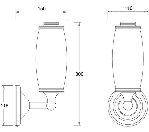 Technical drawing QS-V9083 / EL/BL13