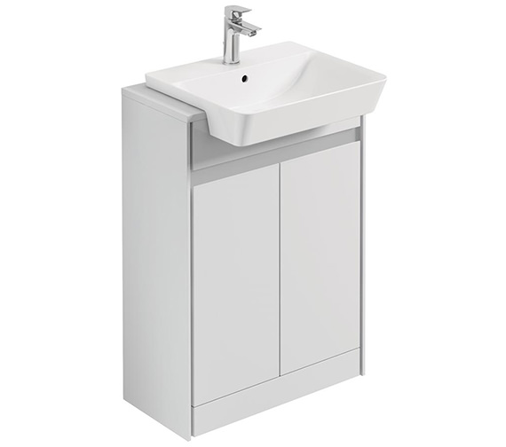 Ideal Standard Concept Air 600mm Free Standing Gloss White Semi-Countertop Unit