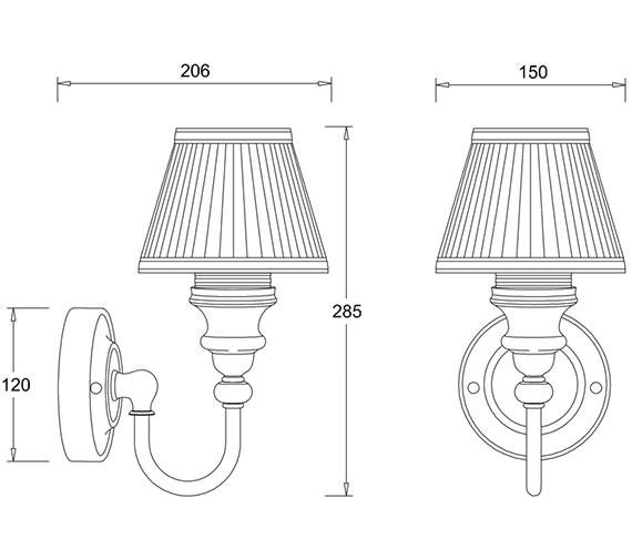Technical drawing QS-V9087 / EL/BL22