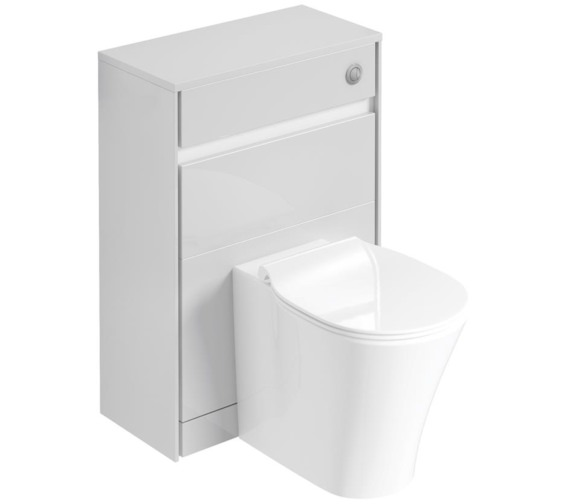 Ideal Standard Concept Air 600mm Back-To-Wall Gloss Grey WC Furniture Unit