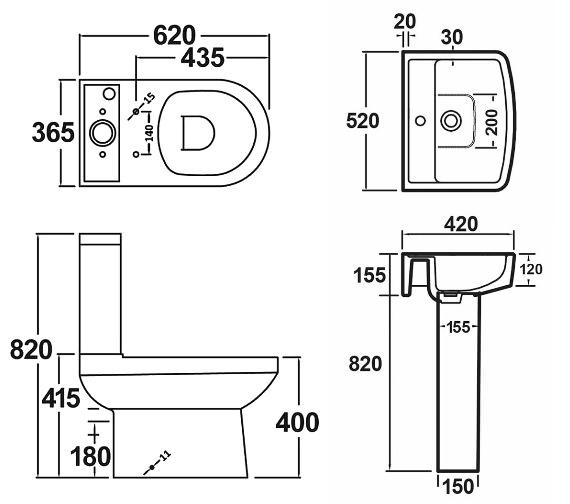 Technical drawing QS-V1008 / NCH600B