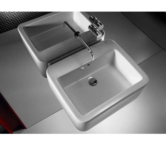 Additional image of Roca Element Wall Hung Basin 600mm x 515mm - 327570000